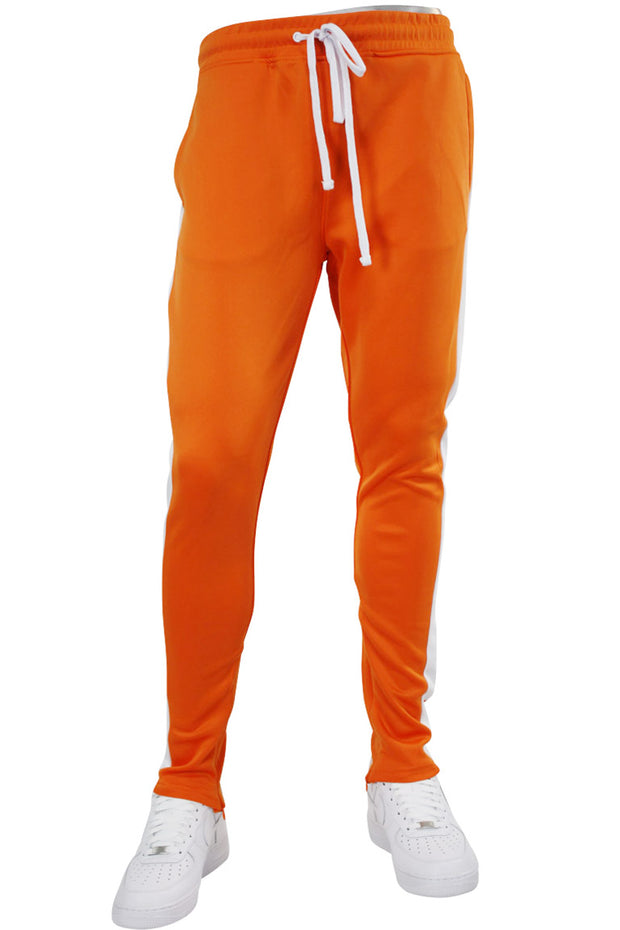 Solid One Stripe Track Pants Orange (100-401)