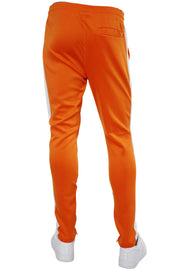 Solid One Stripe Track Pants Orange - White (100-401)