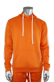 Pullover Track Hoodie Orange - White (100-301) - Zamage