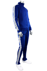 Reflective Tape Track Pants Royal (100-410) - Zamage
