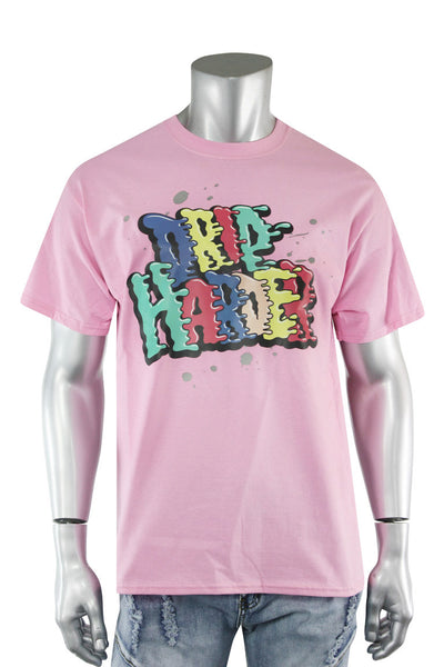 Drip Harder Tee Pink (DS5004S-PP) - Zamage