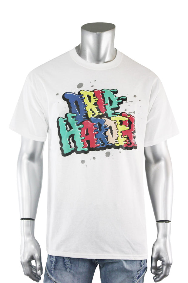 Drip Harder Tee White (DS5004S-WH) - Zamage