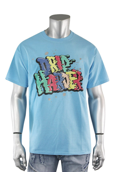 Drip Harder Tee Blue (DS5004S-TL) - Zamage