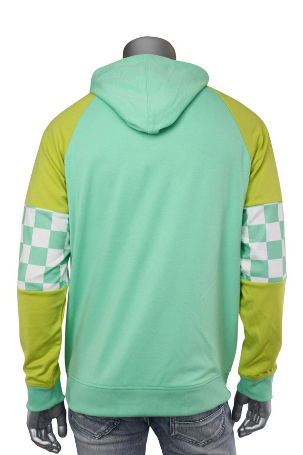 Half Zip Tech Fleece Hoodie Mint (82-302 22S) - Zamage