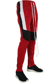Color Block Track Pants Red - Black - White (M4457PS) - Zamage