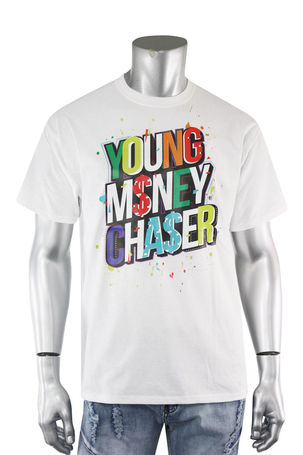 Young Money Chaser Tee White (DS5002S-WH) - Zamage