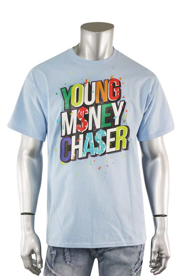 Young Money Chaser Tee Light Blue (DS5002S-LB) - Zamage