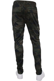 Allover Printed Cargo Track Pants Woodland (192-402) - Zamage