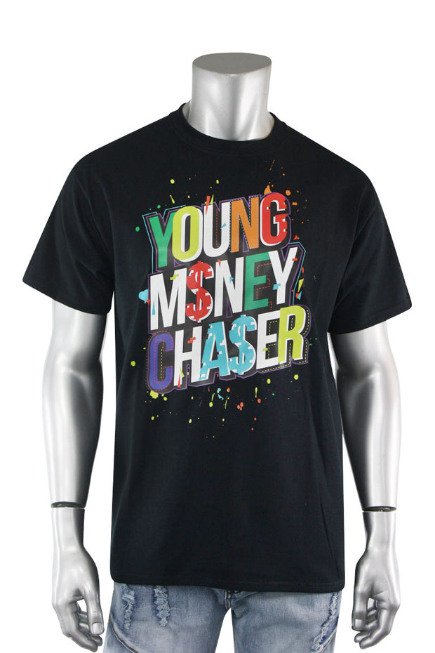 Young Money Chaser Tee Black (DS5002S-BK) - Zamage