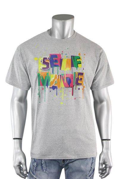 Self Made Tee Grey (DS5001S-HG) - Zamage