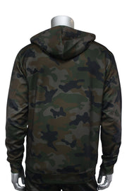 Allover Printed Pullover Track Hoodie Woodland (192-313) - Zamage