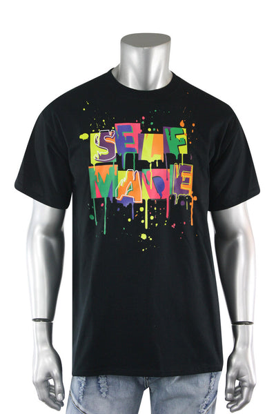 Self Made Tee Black (DS5001S-BK) - Zamage