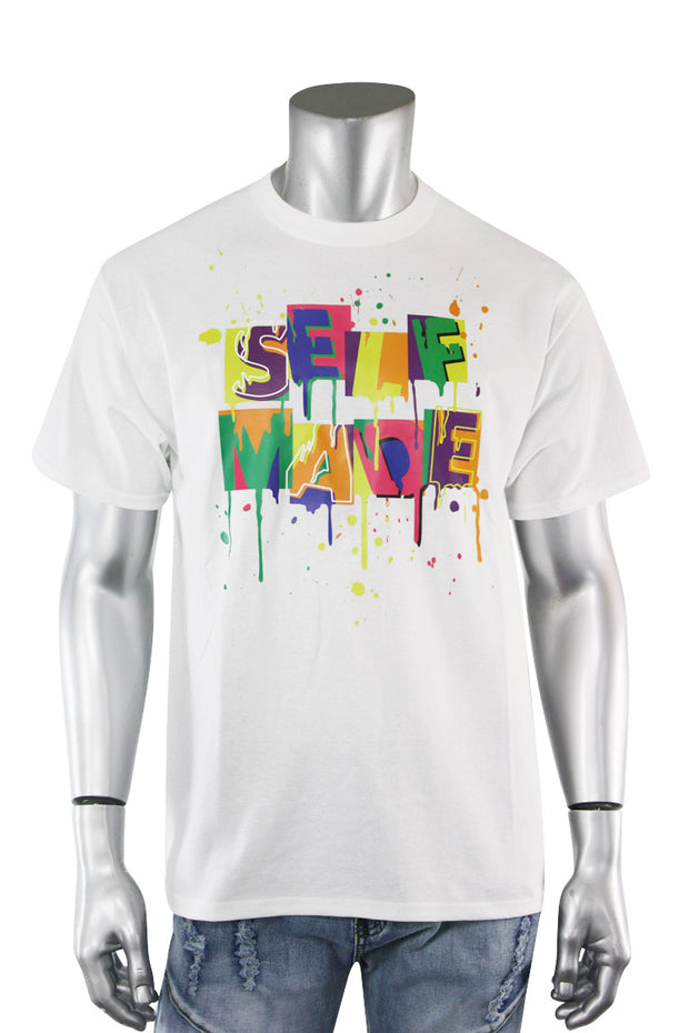 Self Made Tee White (DS5001S-WH) - Zamage