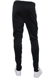 Solid One Stripe Track Pants Black - White (100-401) - Zamage