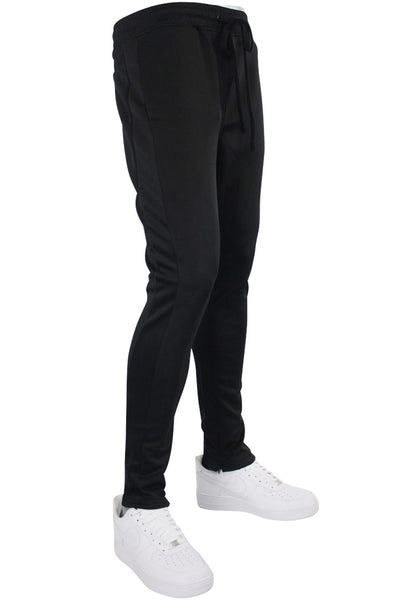 Solid One Stripe Track Pants Black - Black (100-401) - Zamage