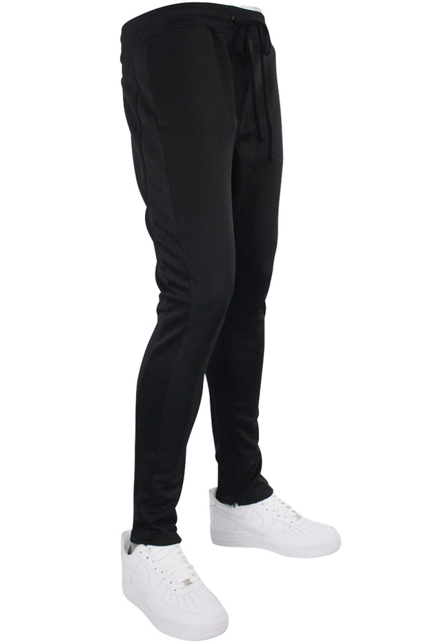 Solid One Stripe Track Pants Black - Black (100-401)