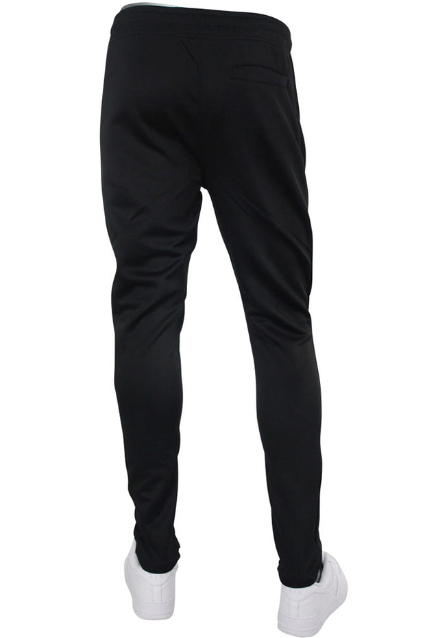 Solid One Stripe Track Pants Black - Black (100-400) - Zamage