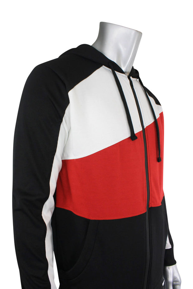 Tech Fleece Hoodie Black - White - Red (82-302)