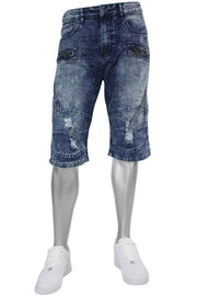 Zip Denim Shorts Medium Vintage Wash (M7161D)