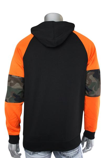 Half Zip Tech Fleece Hoodie Woodland (82-303 22S)