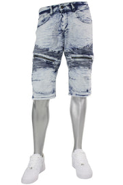 Denim Shorts Marble Wash (M7157D) - Zamage