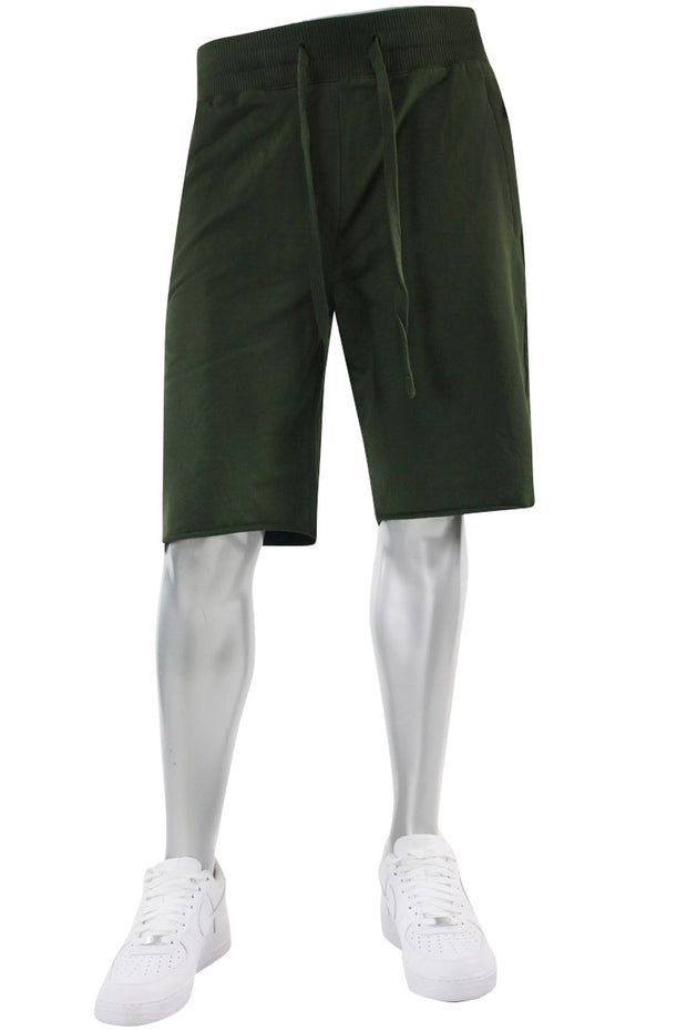 Jordan Craig French Terry Shorts Army Green (8350S 22S) - Zamage