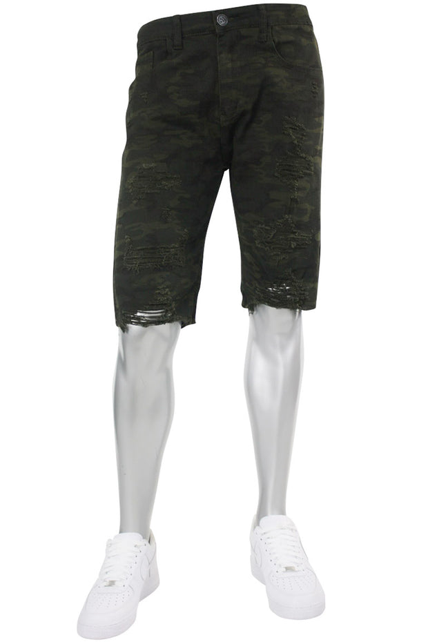 Premium Denim Shorts Camo (M7165T) - Zamage
