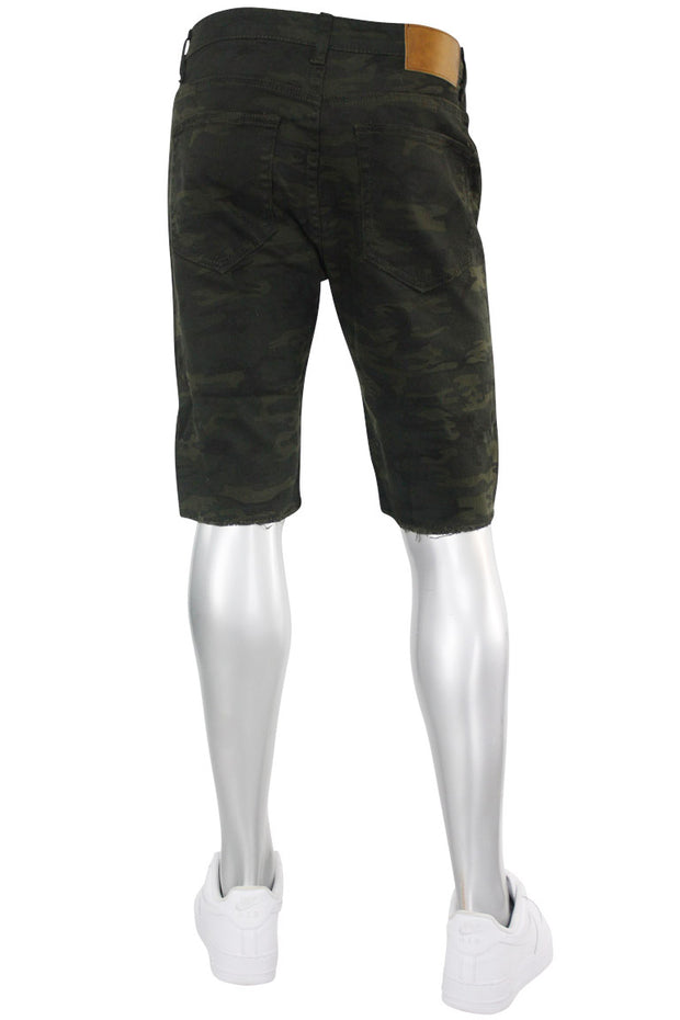 Premium Denim Shorts Camo (M7165T)