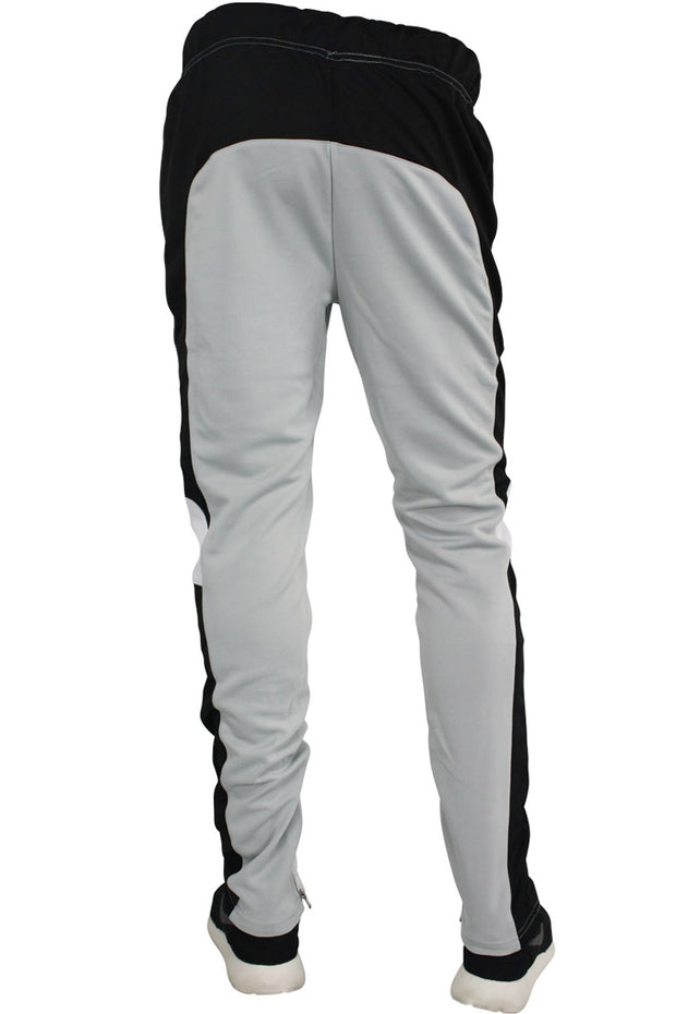 Color Block Track Pants Grey - Black - White (ZCM4565PS) - Zamage