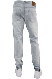 Destructed Denim Joggers Bleach Wash (M4635D) - Zamage