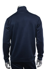 Solid One Stripe Track Jacket Navy - White (100-501)
