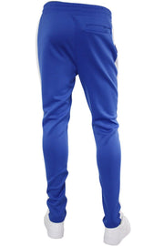 Solid One Stripe Track Pants Royal - White (100-402)