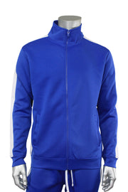 Solid One Stripe Track Jacket Royal - White (100-501)