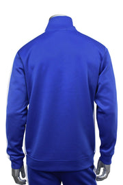 Solid One Stripe Track Jacket Royal - White (100-502)