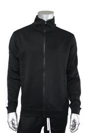 Solid One Stripe Track Jacket Black - White (100-501)