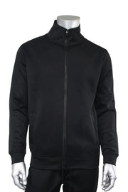 Solid One Stripe Track Jacket Black - Black (100-501) - Zamage