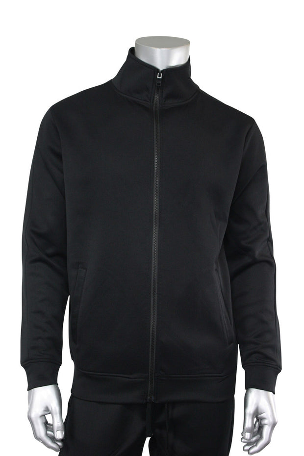 Solid One Stripe Track Jacket Black - Black (100-501)