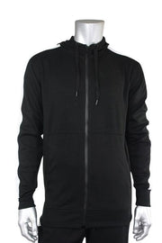 Taping Tech Fleece Hoodie Black - White (F851 22S)