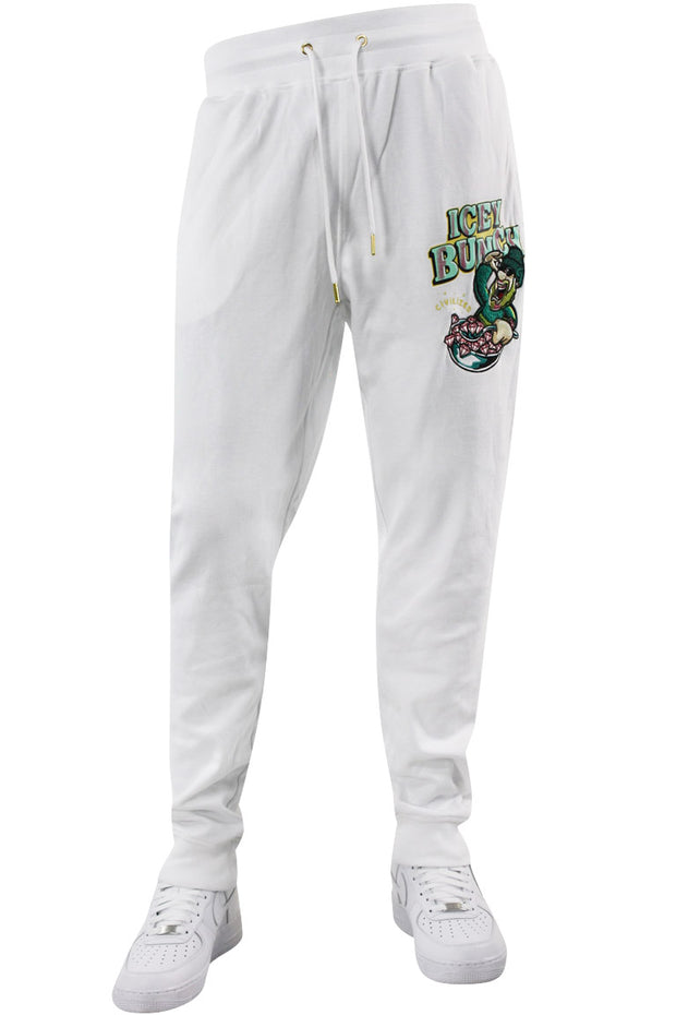 Icey Bunch Chenille Patch Full Jogger Suite White (CV2071 22S) - Zamage