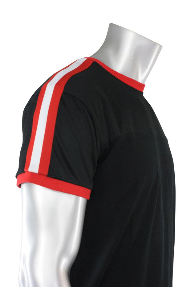 Striped Taping Tee Black (T823 22S)