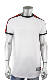 Striped Taping Tee White (T823)