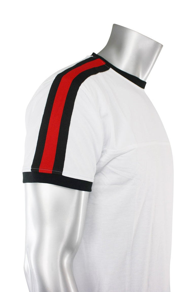 Striped Taping Tee White (T823 22S)