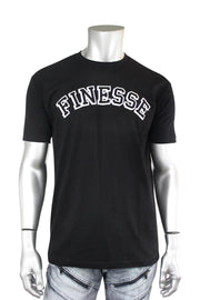 Finesse Tee Black - White (FINESSE) - Zamage