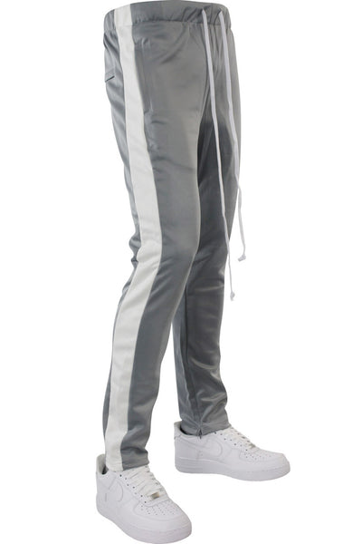 Side Stripe Zip Pocket Tricot Tracks Grey - White (MK7753)