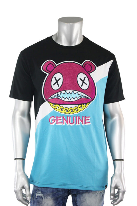 Cross Bear Chanel Tee Black - Teal (BEAR 22S) - Zamage