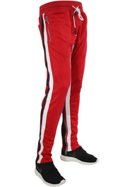 Jordan Craig Dual Stripe Track Pants Red - Black (8333A 22S) - Zamage