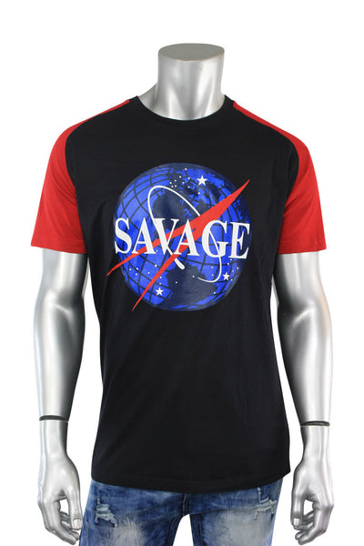 Savage Space Tee Black - Red (8850R)