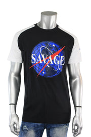 Savage Space Tee Black - White (8850R)