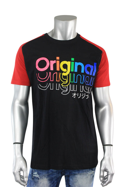 Multi Color Original Tee Black - Red (9353R)