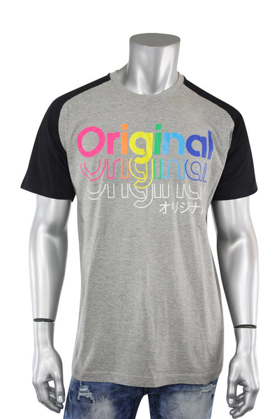 Multi Color Original Tee Heather Grey - Black (9353R)